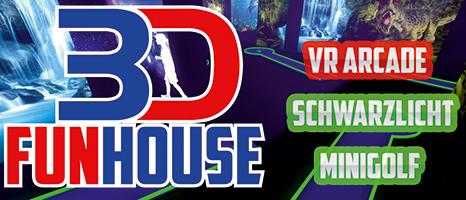 3D Funhouse Schwarzlicht Minigolf